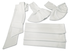Image of Our Versatile Cuffs & Sashes Set Pure White