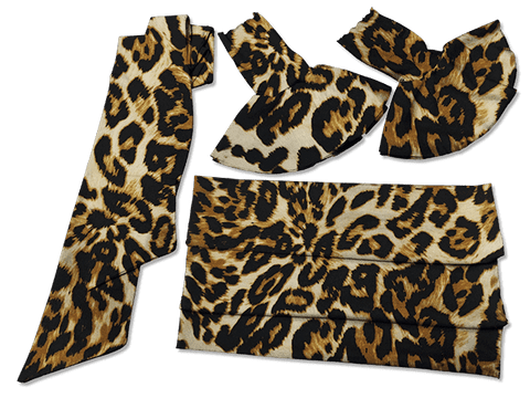 Our Versatile Cuffs & Sashes Set Wild Leopard