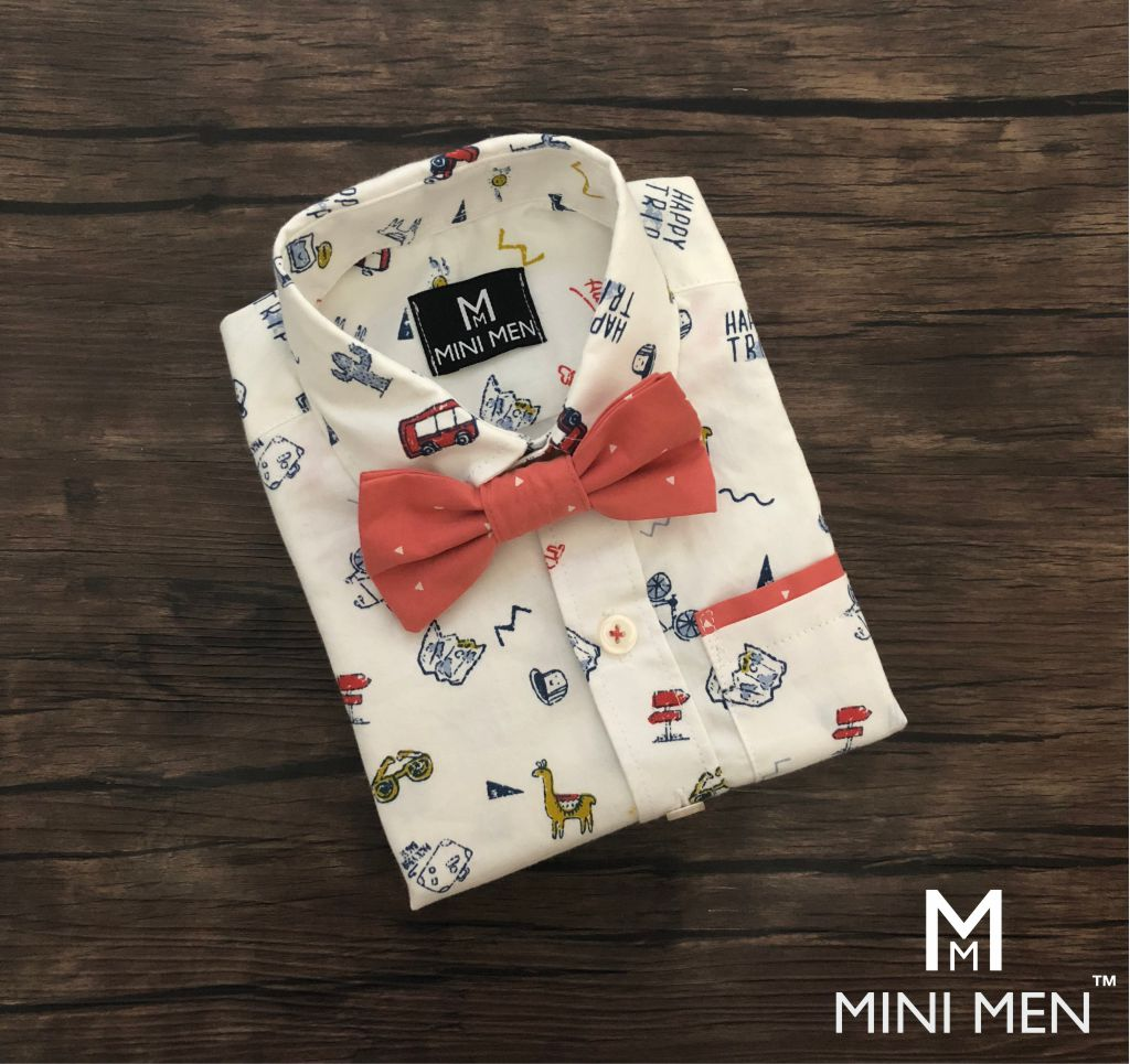 Dad n Son Twinning Bow Tie Shirts - Vacation