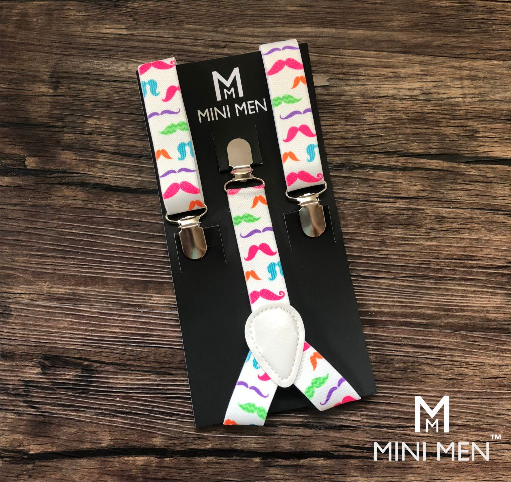Suspender - Colourful Moustache