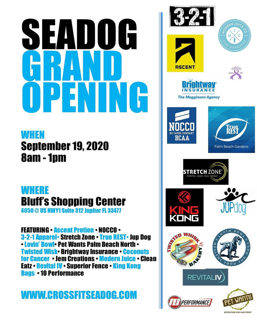 CrossFit SeaDog's Grand Opening Event - Saturday, Sep 19 8:00am to 1:00pm