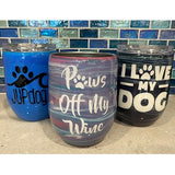 Handcrafted 12oz Painted Epoxy Wine Tumblers - JUPdog