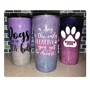 Handcrafted 20oz Glitter Epoxy Tumblers - JUPdog