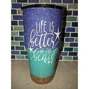 Handcrafted 30oz Glitter Epoxy Tumblers - JUPdog