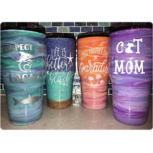 Handcrafted 30oz Painted Epoxy Tumblers - JUPdog