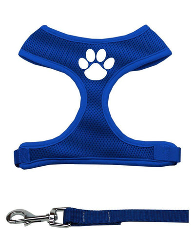 Paw Print Mesh Harness and Matching Leash - JUPdog