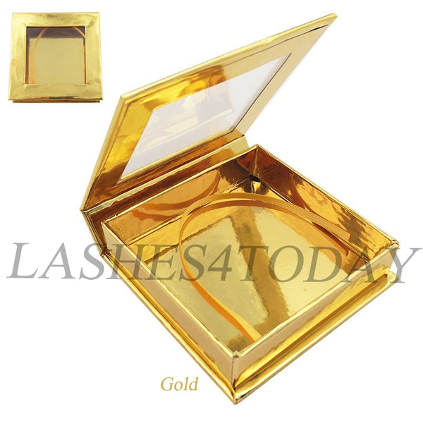 Gold Square Eyelashes Case