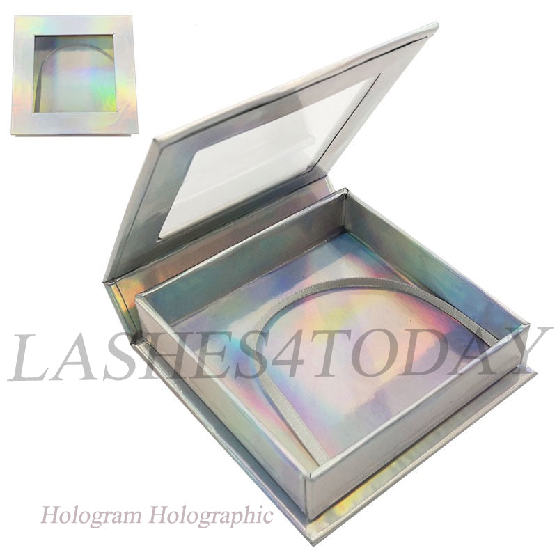 Hologram Holographic Square Eyelashes Case
