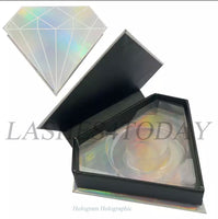 Hologram Holographic Diamond Eyelashes Case