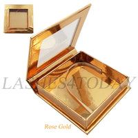 Rose Gold Square Eyelashes Case