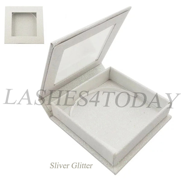 Sliver Glitter Square Eyelashes Case