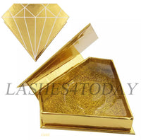 Gold Diamond Eyelashes Case
