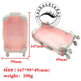 False Eyelashes suitcase Packaging Box Lash Boxes Custom Your Logo