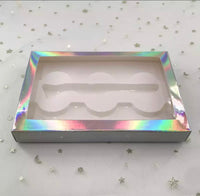 Holographic  3pairs Lash Box with Lash Tweezer shape