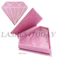 Pink Glitter Diamond Eyelashes Case