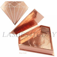 Rose Gold Diamond Eyelashes Case
