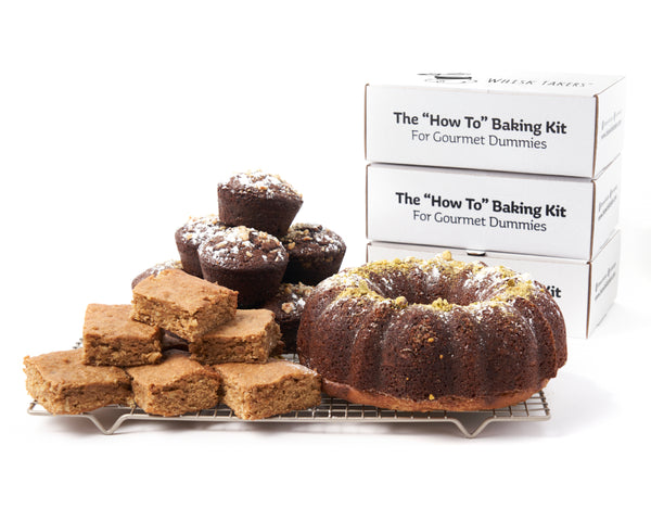 """That's Nuts"" Bundle: Grandpa's Pistachio Cake + Hazelnut Cupcakes + Banana Walnut Blondies"