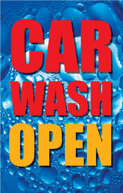 "Car Wash Open- 28"" x 44"" .020 Styrene Insert"