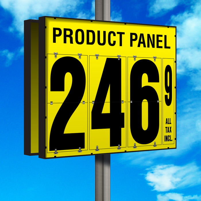 "24"" Flip Numbers- Single-Product, Double-Sided Pole Mount"