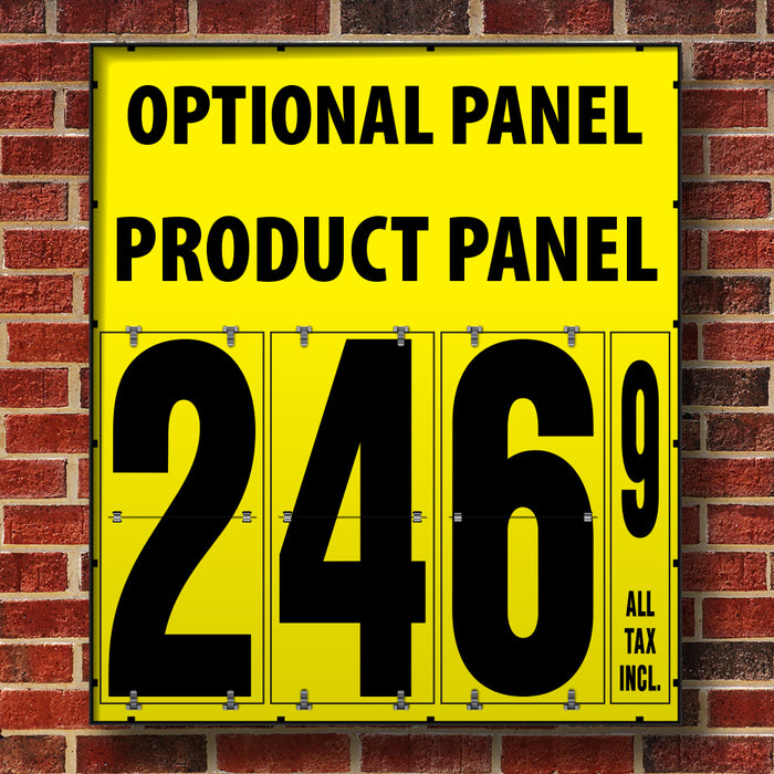 "24"" Flip Numbers- Single-Product, Wall or Pole Mount w/ Optional Panel"