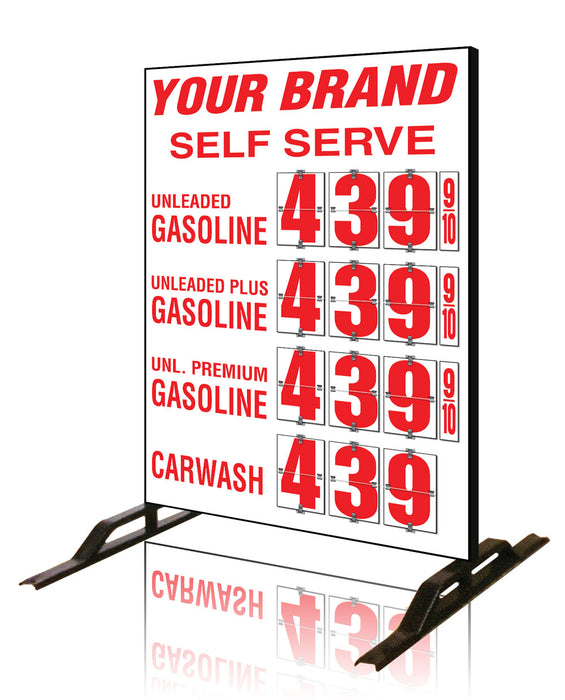 Four Product Flip All Double Sided Sign