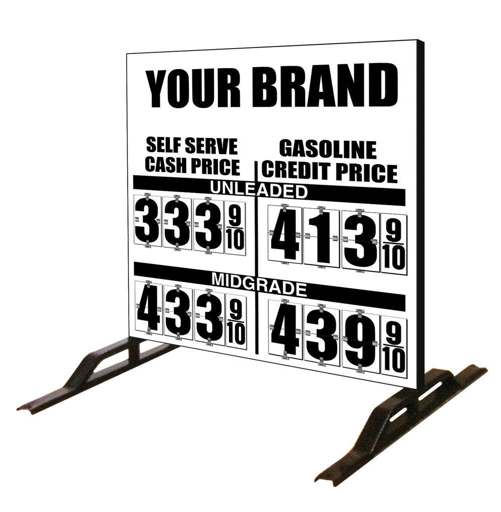 Dual Cash/Credit Gas Price Flip Sign Two-Product