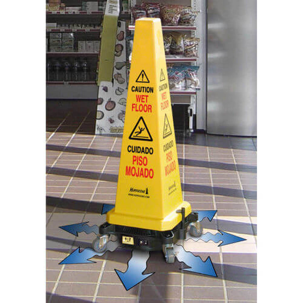 HURRICONE™ Cordless Floor Dryer and Safety Cone