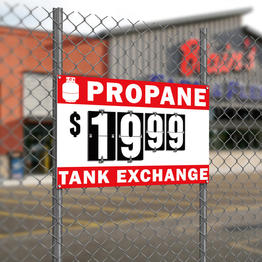 Propane Tank Exchange Flip-Sign