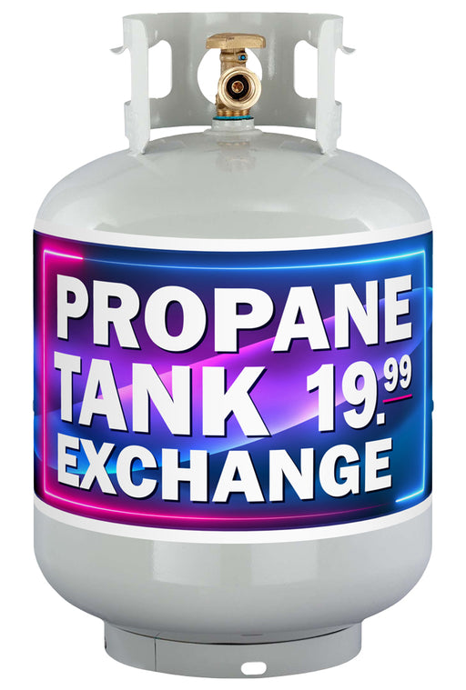 """Propane Tank Exchange"" Die-Cut Antenna Sign"