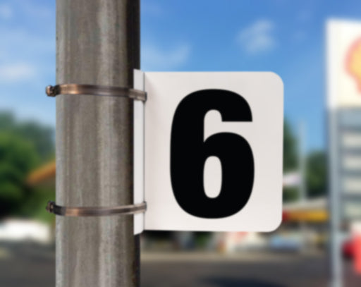 Pole Mounted Pump Number Sign