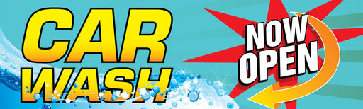 "Horizontal Banner, 10'w x 3'h- ""Car Wash"""