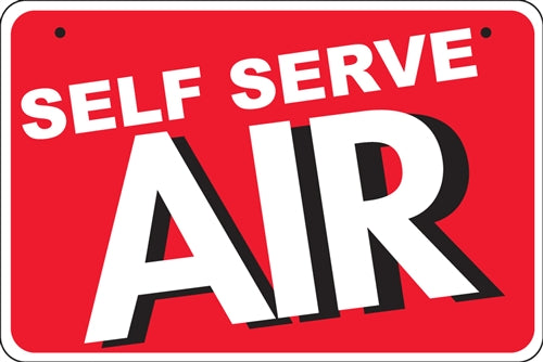 "Aluminum Bracket Sign- ""Self Serve Air"""