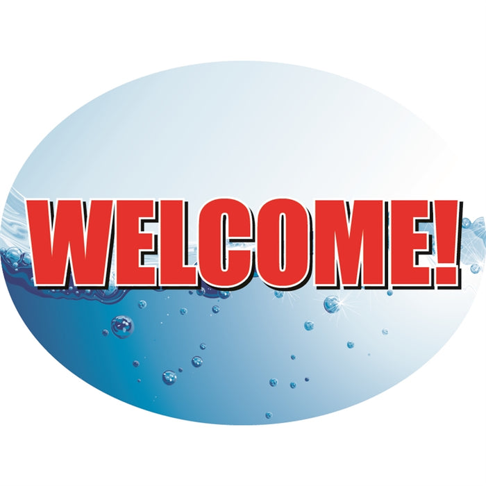 "Welcome- 12""w x 8""h Die-Cut Sign Panel"