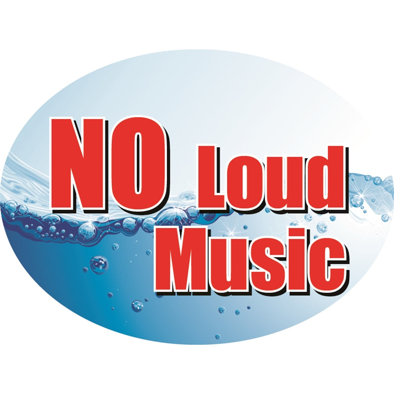 "NO Loud Music- 12""w x 8""h Die-Cut Sign Panel"