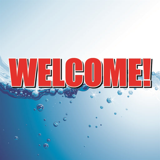 "Welcome!- 12""w x 12""h Square Sign"