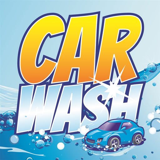"Car Wash- 12""w x 12""h Square Sign"