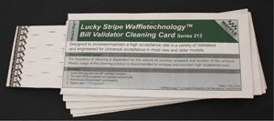 Bill Validator Cleaning Cards
