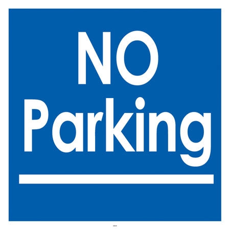 "No Parking- 24""w x 24""h Squarecade Panel"