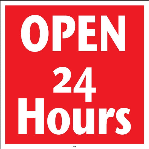 "OPEN 24 Hours- 24""w x 24""h Squarecade Panel"