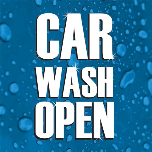 "Car Wash Open- 24""w x 24""h Squarecade Panel"
