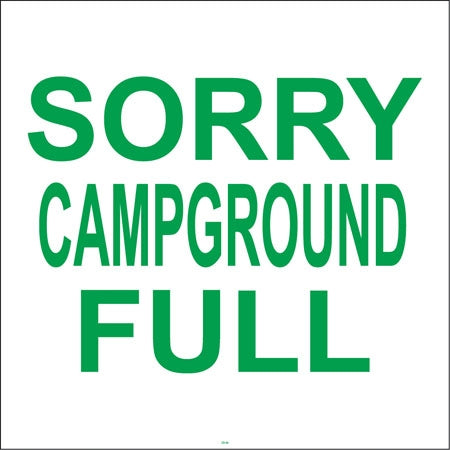 "Squarecade Panel- ""Sorry Campground Full"""