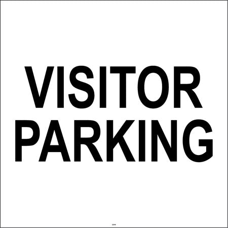 "Visitor Parking- 24""w x 24""h Squarecade Panel"