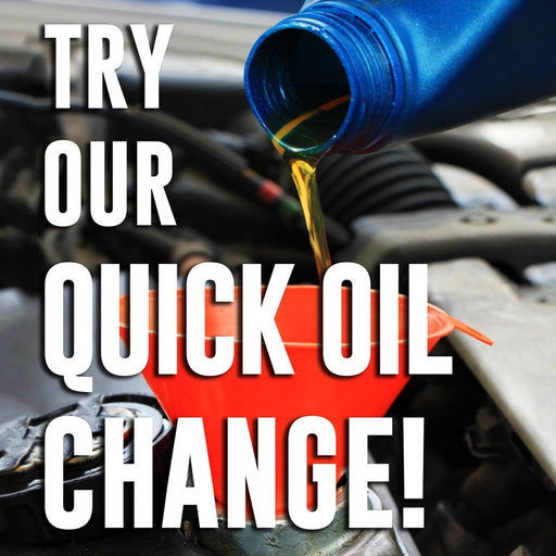 "Try Our Quick Oil Change- 24""w x 24""h Squarecade Panel"