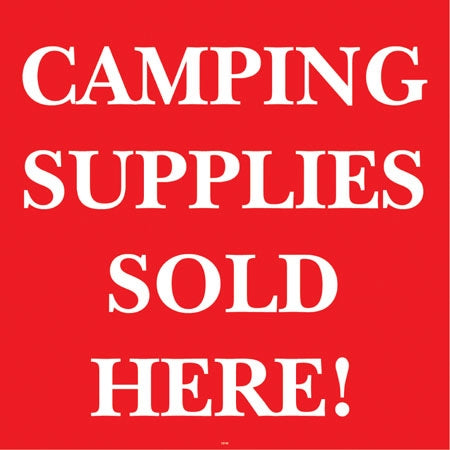 "Camping Supplies- 24""w x 24""h Squarecade Panel"