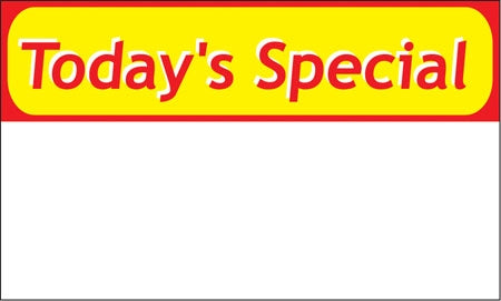 "Ceiling Dangler- ""Today's Special"""