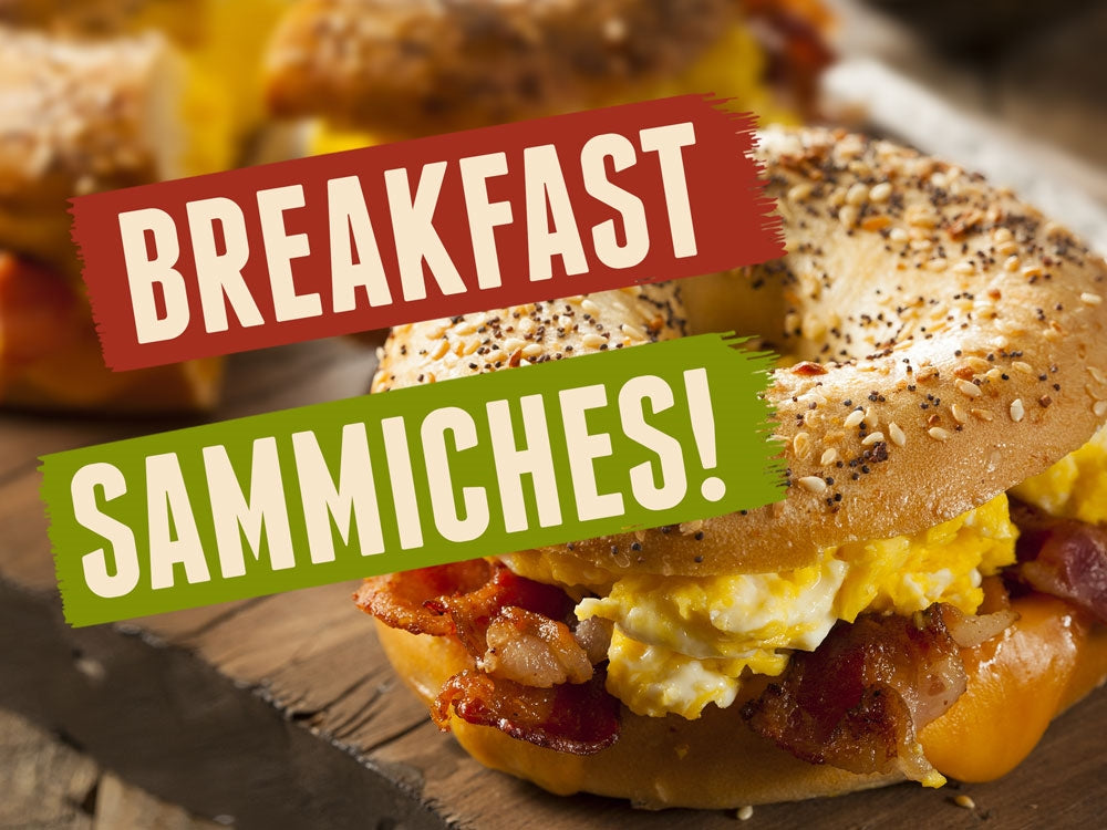 "Breakfast Sammiches- 24""w x 18""h Coroplast Yard Sign"