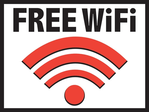 "Free WiFi- 24""w x 18""h Coroplast Yard Sign"