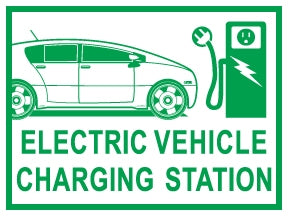 "Coroplast Yard Sign- ""Electric Vehicle Charging Station"""