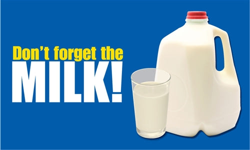 "Milk- 24""w x 18""h Coroplast Yard Sign"