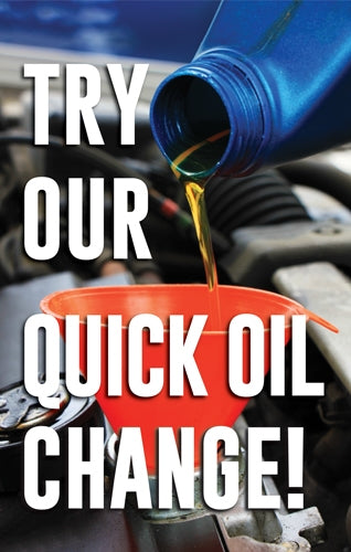 "4mm Single-Sided Insert ""Try our Quick Oil Change"""